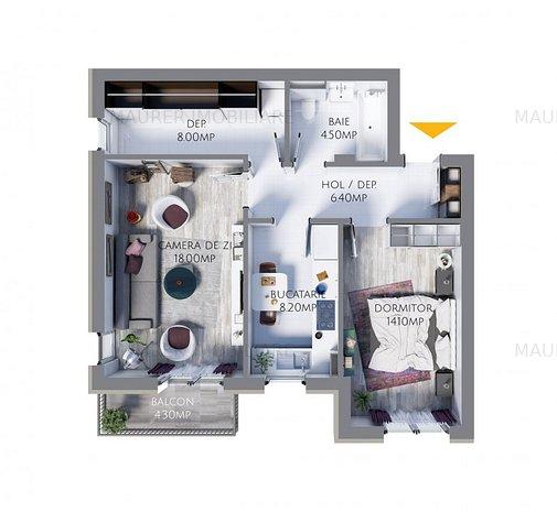Apartament 2 camere de vanzare, Avantgarden3 Brasov - imaginea 1