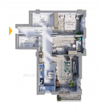 Apartament cu 3 camere de vânzare în bloc nou, zona Avantgarden 3 - imaginea 1