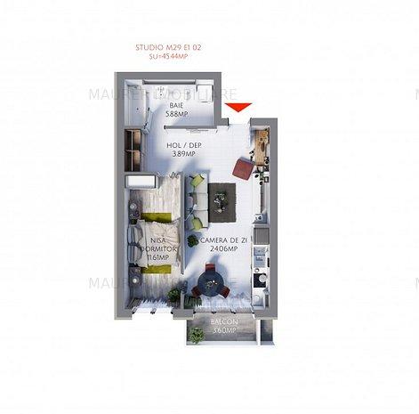 Studio de vânzare în bloc nou, Maurer Villas - imaginea 1