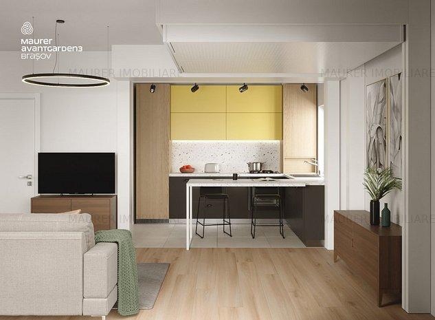 Apartament 3 camere de vanzare, Avantgarden3 Brasov - imaginea 1