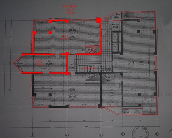 Inchiriere spatiu de birouri, 100 mp util, in Centrul Civic. - imaginea 1