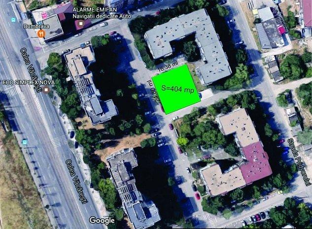Vacaresti Parcul Tineretului 404 mp, P+5-10 Et alei asfaltate 3 laturi - imaginea 1