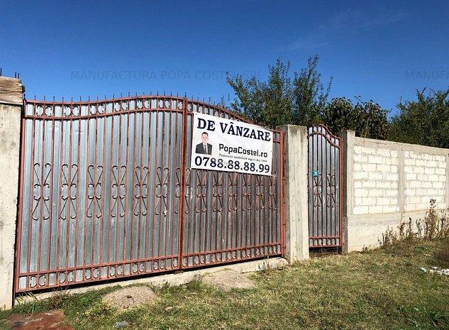 Fundeni Frunzanesti teren intravilan imprejmuit cu gard de beton - imaginea 1