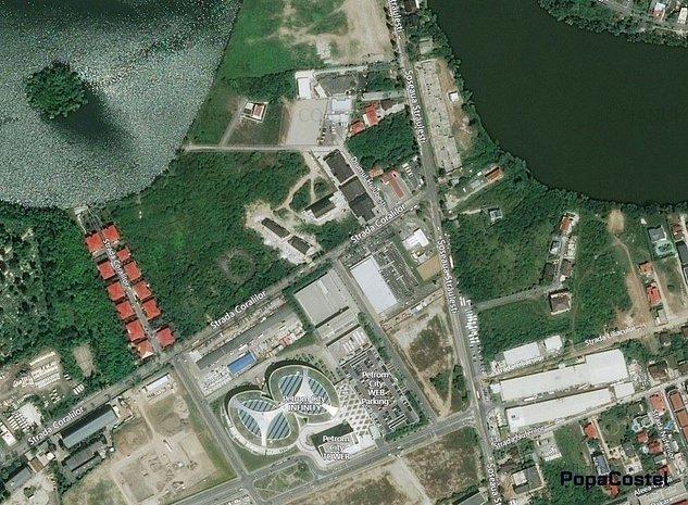 Baneasa Petrom City teren 15.536 mp, deschidere 60 ml lac - imaginea 1