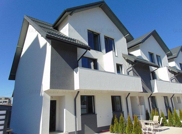 PROIECT deosebit la 2 Cocosi casa cu 5 camere si 3 bai P+1+M 2 placi finisaje - imaginea 1