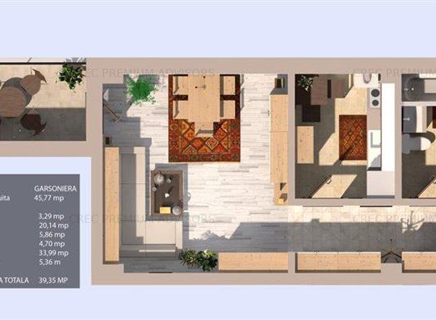 Valea Oltului, bloc 2020, garsoniera, 40 mpu, terasa, parter/3, zona case - imaginea 1