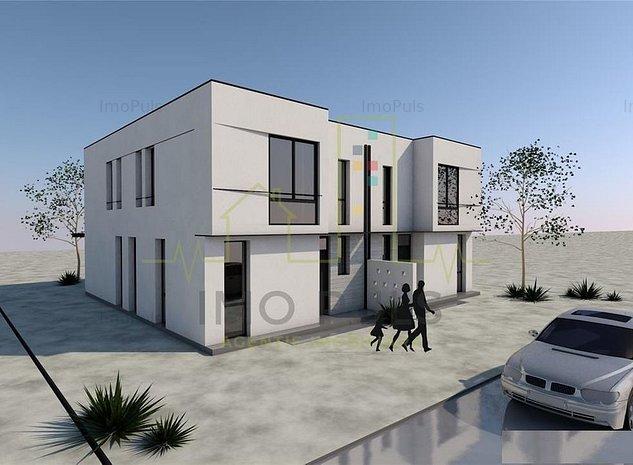 Duplex proiect MODERN. Cu ASFALT si UTILITATI - imaginea 1
