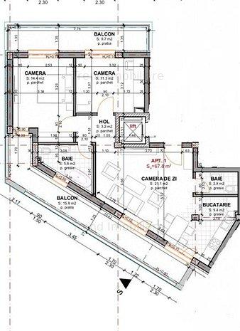 Apartament cu 3 camere - zona Platinia - imaginea 1
