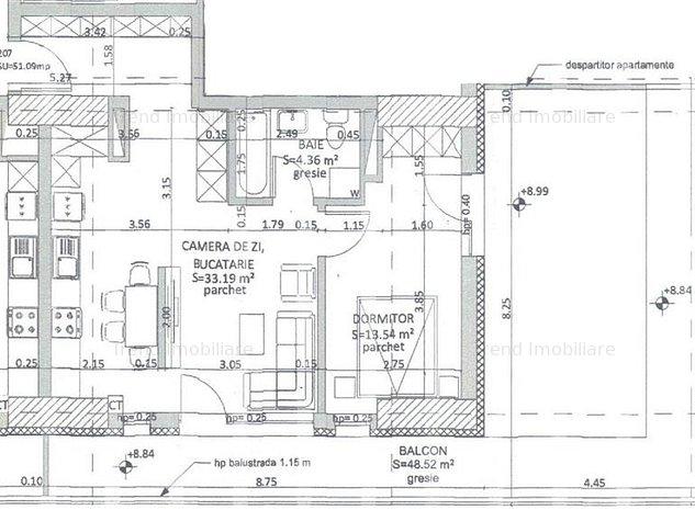 Apartament 2 camere + Terasa 49mp - Grigorescu - Taietura Turcului - imaginea 1