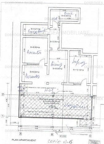 C5, apartament extins in spatiu comercial, vitrina 28 m2 - imaginea 1