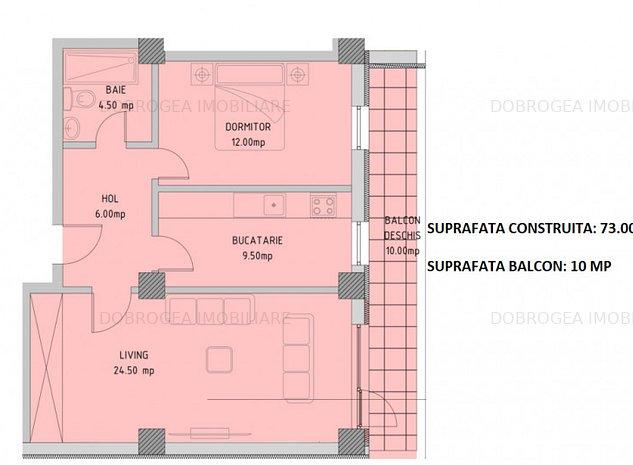 Complex E3 PLUS, 2 camere, Etaj 1, decomandat, COMISION 0 - imaginea 1