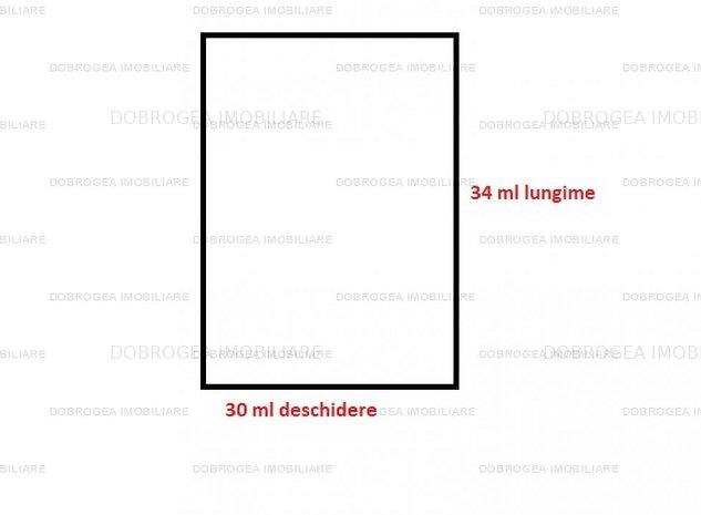 Teren intravilan, zona 9 Mai, 1000 mp, 30 ml deschidere, toate utilitatile - imaginea 1