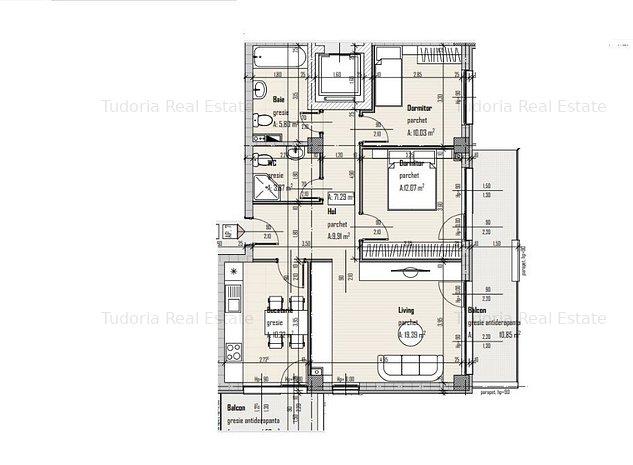 Apartament 3 camere, 71 mp, Baciu, zona Petrom! - imaginea 1