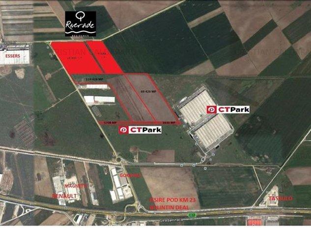 Vanzare teren Bolintin Deal - A1 - KM23 - Joita, Giurgiu - imaginea 1