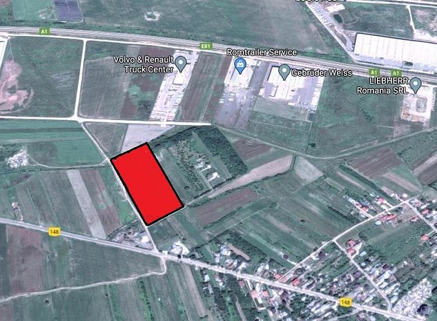 Vanzare teren Bolintin Deal - A1 - KM24, Giurgiu - imaginea 1
