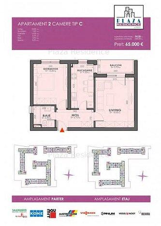 Apartament 2 camere Plazza Residence Faza 2 - imaginea 1