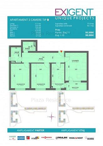 Apartament 3 Camere Tip B FAZA 4 - imaginea 1