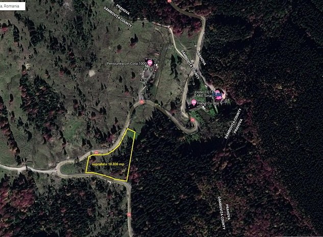Sinaia, zona Cota 1000, teren intravilan 10.800mp, deschidere dubla la DN71 - imaginea 1