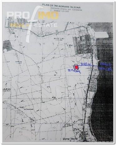 Teren Intravilan curs constructii 3750mp.D=53m. 2 Mai-Limanu-Vama Veche - imaginea 1