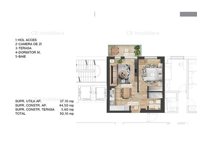 Vanzare apartament 2 camere Barbu Vacarescu Belvedere Residence - imaginea 1