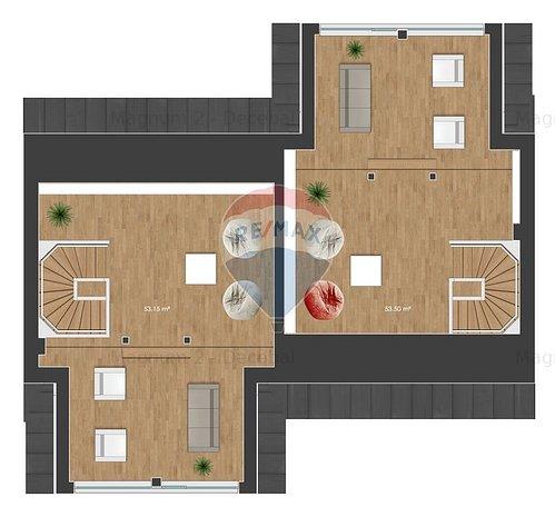 Casa cu 4 camere, cu geamuri vitrate mari, complex privat, cu bariera in Pipera - imaginea 2