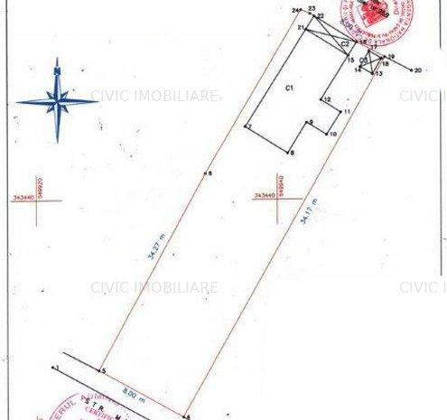 Bucurestii Noi - Chitila, Str. Matei Corvin, teren 280 mp, cu casa demolabila - imaginea 1