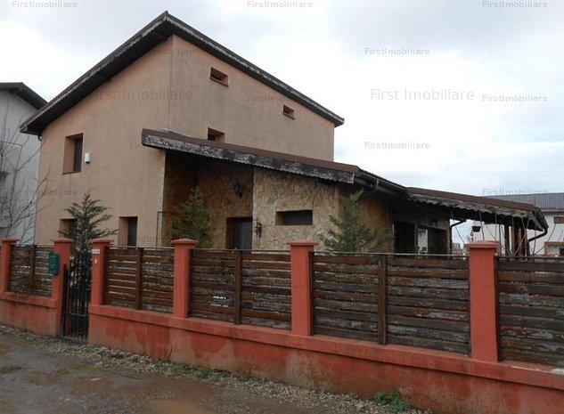 Vila cu 5 camere,mbilata si utilata,curte mare,situata la 5 minute de Bucuresti - imaginea 1