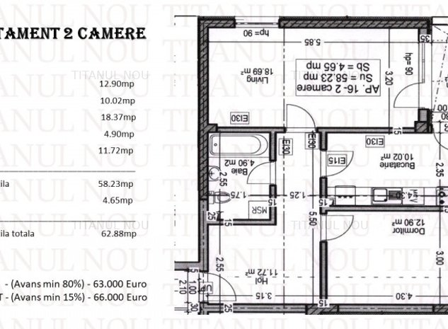 Apartament 2 Camere - Titanul Nou - Titan - Pallady - Metrou Nicolae Teclu - imaginea 1