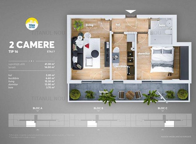 Pret Promo! Plata cash-Plata credit - Apartament cu terasa - Direct dezvoltator - imaginea 1