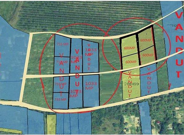 Teren intravilan,600,1200 MP, Front .25M,utilitati,zona SIlvaniei - imaginea 1