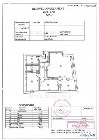 Parter inalt! 3 camere la 300 m de metrou Brancoveanu Acte finalizate! - imaginea 1
