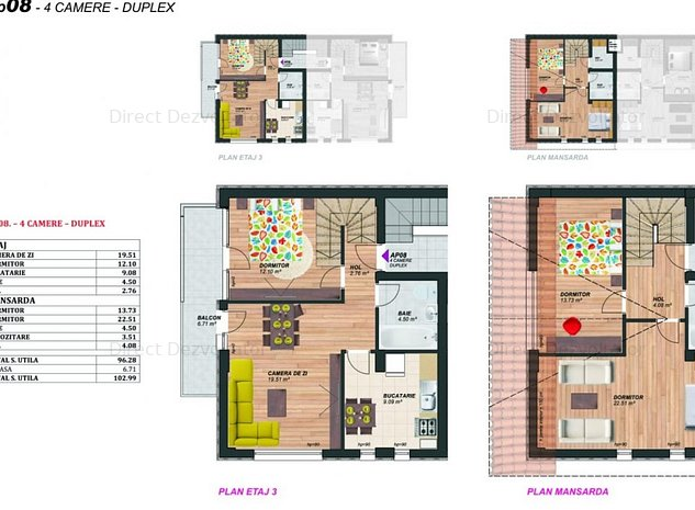 Proiect nou! 4 camere Metrou Brancoveanu Comision zero! - imaginea 1