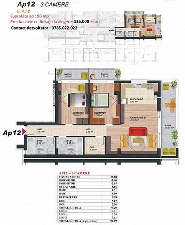 Dezvoltator! Ap.3 camere 90 mp Brancoveanu – Soimus Proiect nou! - imaginea 1