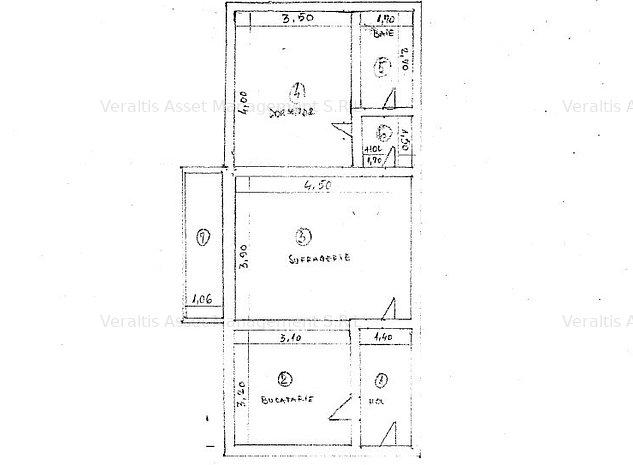 Apartament 2 camere- Str. Tineretului- 27.000Eur - imaginea 1