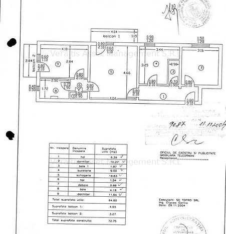 Apartament cu 3 camere si dependinte - imaginea 1
