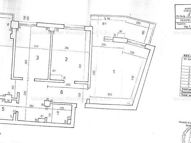 Apartament cu 3 camere s.u. 61.83mp centru - imaginea 1