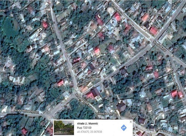 Teren 370 mp si casa Husi - imaginea 1