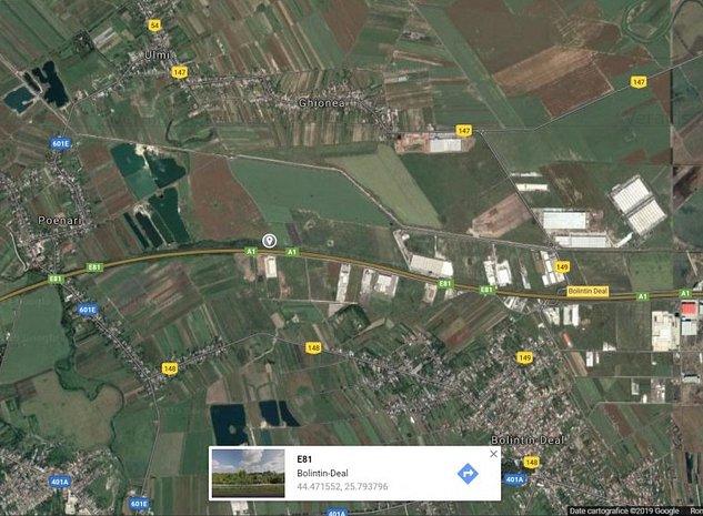 Vanzare teren pt constructii 13.500 mp Bolintin-Deal, km 24 Autostrada A1 - imaginea 1
