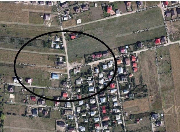 Popas Pacurari-str. Victoriei, teren 400 mp, intre case, canalizare! - imaginea 1
