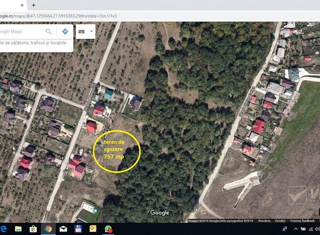 Manastirea Cetatuia, teren 757 mp, intre case, langa padure - imaginea 1