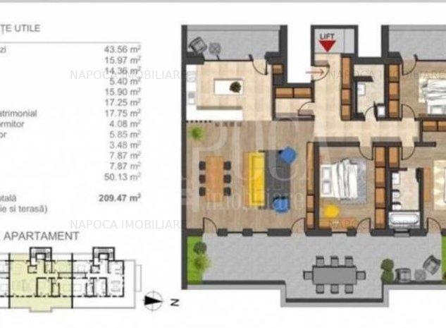 Apartament 4  camere de vanzare in Buna Ziua, Cluj Napoca - imaginea 1