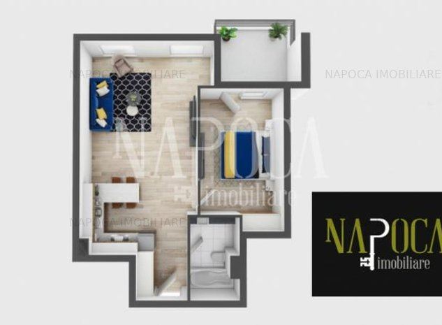 Apartament 2 camere de vanzare in Zorilor, Cluj Napoca - imaginea 1