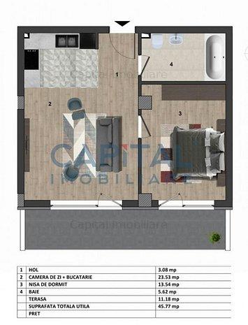 0 Comision! Apartament 2 camere Europa - imaginea 1