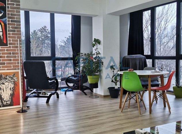 Apartament lux cu 2 camere, mobilat, cu panorama spre parc - imaginea 1
