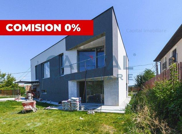 Casa individuala, 4 camere, arhitectura moderna , Borhanci, comision 0 - imaginea 1