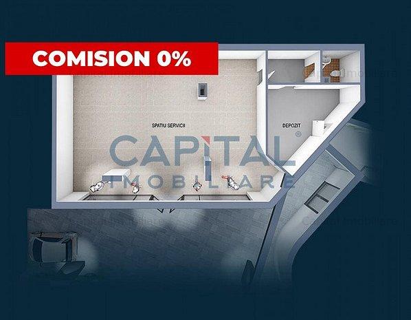 Spatiu comercial semifinisat 85 mp, cu CF - comision 0 - imaginea 1