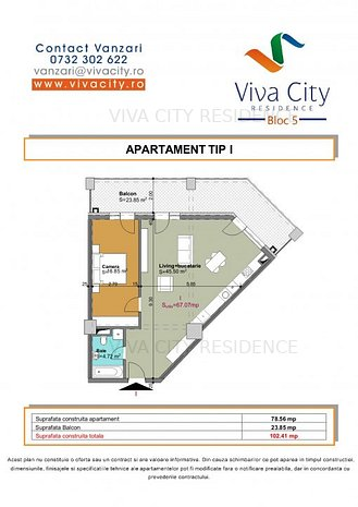 Apartament spatios cu terasa in Vivacity Residence - imaginea 1