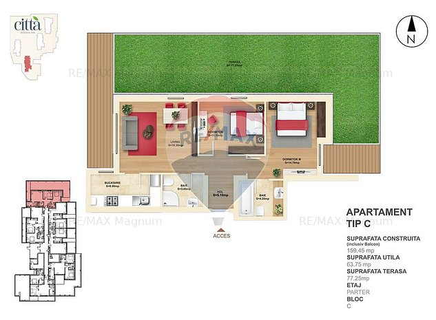 Apartament 3 Camere - Delfinului - Mega Mall - Citta - C.P.3 RMX25897 - imaginea 1
