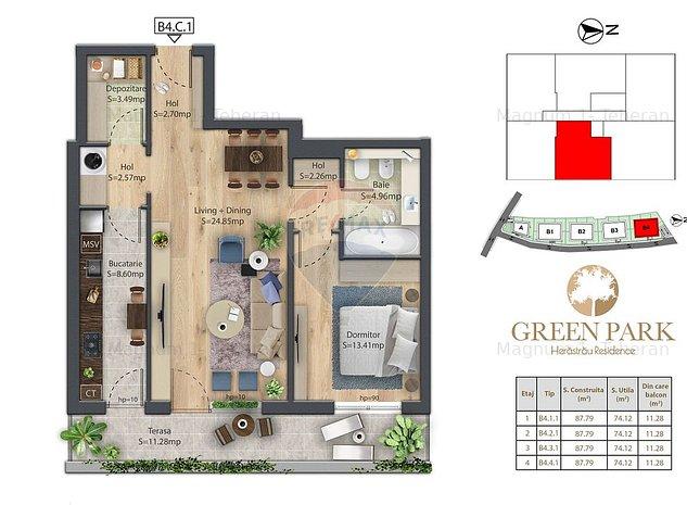 Apartament 2 camere de vanzare Herastrau B4.2.3 - imaginea 1