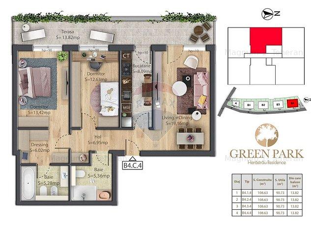 Apartament 3 camere de vanzare Herastrau B4.C4 - imaginea 1